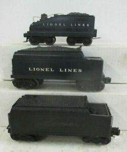 LIONEL 'O' TENDER LOT (3 INCLUDED!)