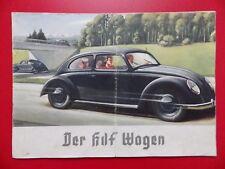 altes Prospekt DKW Front AUTOUNION KDF Wagen auf dem Titelbild um 1938 ( F 17701