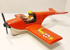 Vintage Fisher Price Adventure People Daredevil Sport Plane W/figure