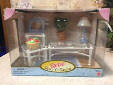 New 1998 Barbie Decor Collection Doll Furniture Set Tables Accessories