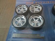 1 set 1/24 replace or custom 20 wheels and tires for diorama Set #1 customize
