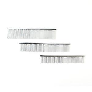 Pet Dog Cat Metal Double Row Teeth Brush Grooming hair Comb Rake Tool Size S/M/L