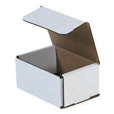 50 Pack 4x3x2 Small White Cardboard Carton Mailer Mailing Shipping Box Boxes
