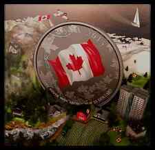 2015 50th Anniversary of Canadian Flag $25 Coloured Fine Silver Coin, No Tax