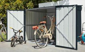 Globel Fahrradhaus, Fahrradbox, Gerätehaus FAMILY für 4 Fahrräder in Anthrazit