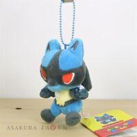 Pokemon Center Original POKEMON DOLLS Plush Mascot Key Chain Lucario Japan