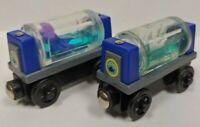 2 Dif Aquarium Car Sodor - Thomas & Friends Tank Engine Train Wooden Train Lot