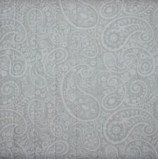 NAUTICA  LA PLATA Grey White Paisley FULL QUEEN 3pc QUILT SET