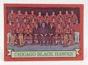 1973 74 OPC O Pee Chee Team Card 96 Chicago Black Hawks Hockey Card E638