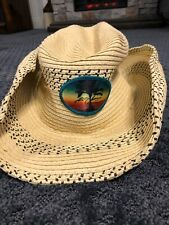 Kenny Chesney Cowboy Brothers of the Sun 2012 Tour Straw Cowboy Beach Hat J'Hats
