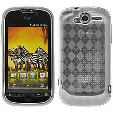 AMZER Luxe Argyle High Gloss TPU Soft Gel Skin Case for HTC myTouch 4G - Clear