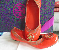 "Wie neu! Fantastic Ballerinas, Tory Burch, ""Caroline"" orange, Gr.  7 = 37,5 (37)"