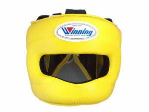 Winning Boxing Head guard, headgear Yellow L from JPN FedEx with tracking FG5000
