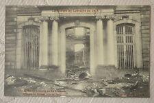 """CPA """" GERBEVILLIER bombardé par les Allemands - L'entrée du Château"""