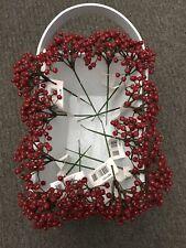 12x Red Berry Stems Picks Artificial Plastic Christmas Berries Cake Craft Joblot