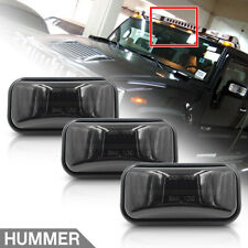 3Pc Front Amber LED Cab Roof Light for Hummer H2 03-09 Smoked Clearance Top Lamp