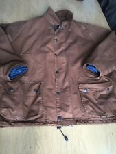 Classic Barbour Men's XXL (Big) 58in Brown Lightweight Beaufort Jacket With Hood