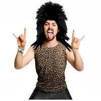 Men's 80's Heavy Metal GLAM Rock Cheetah Leopard Print Costume Tank Top Shirt XL