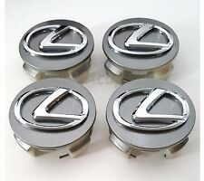LEXUS WHEEL CENTER CAPS GRAPHITE GUNMETAL 62MM  EMBLEM 42603-30590 SET OF 4pcs