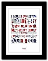 ❤ THE CURE The Walk ❤ song lyrics typography poster art print - A1 A2 A3 or A4