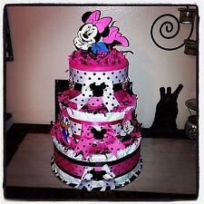 Minnie Mouse Diaper Cake - Baby Shower Or Birthday
