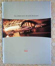 AUDI A6 & A6 AVANT PRESTIGE SALES BROCHURE 2000 USA EDITION