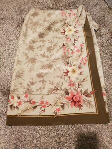 Vintage Pendleton Silk Floral Wrap Skirt 14P