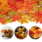 100x Artificial Maple Leaf Autumn Fake Leaves Crafts Wedding Xmas Party Decor F
