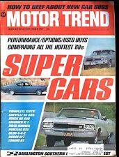 Motor Trend Magazine December 1967 Super Cars VG w/ML 011117jhe