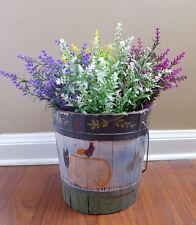 4 Plastic lavender Bushes Artificial Plants (4 Colors)