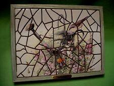 """' Wildflower Meadow ' by Marjolein Bastin 13� x 10"""" broken tile mosaic in frame"""