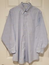 Brooks Brothers Men's 16.5-32 Regent Slim Fit Dress Shirt - Lgt Blue Red Checked