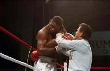 Old Boxing Photo Mike Tyson Is Pulled Off Tyrell Biggs During A Bout