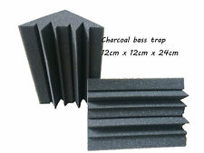 Corner Acoustic Foam Charcoal Bass Trap Sound Insulation Foam 12PCS 12*12*24CM