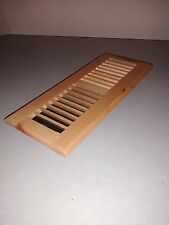 """Solid maple wood floor register/vent for 4""""x12"""" duct, gloss finish,natural color"""
