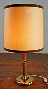 Table Lamp Floor Lamp Brass Leather Vintage 60s mid-Century Lamp Light 60er