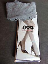 "NOQ Classic 'Rachel' 1 Pr 50Den Melange Opaque Tights 2 H37-41"" Graphite BNWT"