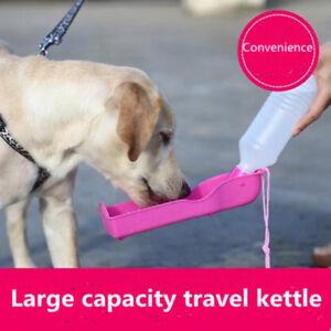 Potable Pets Dog Cat 250ml Water Feeding Bottle Dispenser Pet Collapsible Feeder