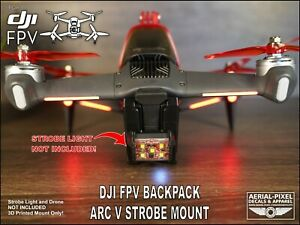 DJI FPV Drone Strobe Mount and Battery Protector for Firehouse Technology ARC V