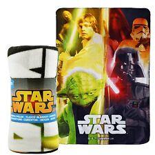 Star Wars Personaje Mantas de lana para niños chicos cama Manta 100cm X 150cm
