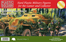 Plastic Soldier 1/72 German Halftrack SdKfz 251/D - 3 kits + 24 crew # WW2V20006