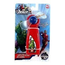 Blip Toys/Marvel Avengers Battery Operated #23762 Lighted Portable Kids Fan, New