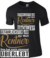 Rentner Job T-Shirt Vater Opa Papa lustig Funshirt Rente Geschenk Beruf Enkel