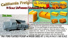 1961 FORD FLATBED PICKUP w/AngleWOOD SIDES N/1:160-Scale California Freight NEW!