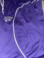 Kansas State Wildcats 2Xl Nike Purple/Grey Reversibile Basketball Shorts
