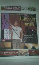 MAROON 5 COVER ATLANTIC CITY PAPER  8-13-19,2015  ATLANTIC CITY NEVER READ