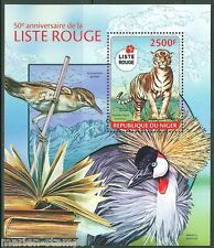 NIGER 2014 50th ANNIVERSARY OF THE RED LIST OF ENDENGERED SPECIES S/S MINT NH