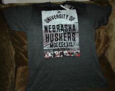 Nebraska Cornhuskers football t-shirt LARGE New with tags vintage NCAA gray