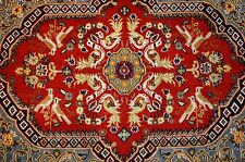 Circa 1930's ANTIQUE KORK WOOL_HIGH KPSI PERSIAN KASHAN RUG 2.3x2.11 SILK ACCENT