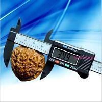 """CALIBRE PIE DE REY DIGITAL CARBONO CALIPER VERNIER GAUGE 150 mm 6"""" Carbon Fiber"""